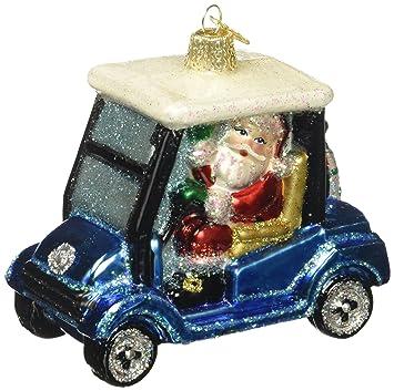 Golf Cart Christmas Decorations.Old World Christmas Ornaments Golf Cart Santa Glass Blown Ornaments For Christmas Tree