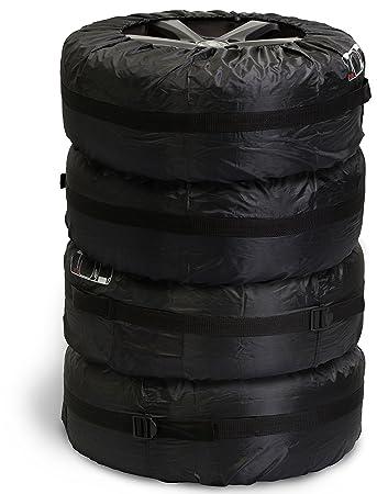 Reifentaschenset mit Radbolzen Taschen - Schwarz 4er Set ...