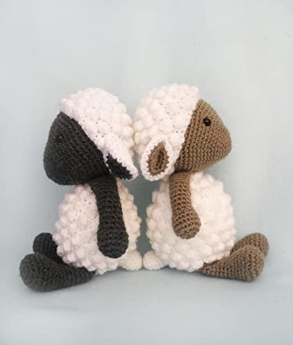 crochet lamb sheep, knitted toy, baby toy sheep, soft toy