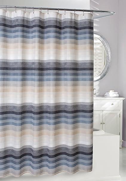 Moda At Home 204739 Landon Fabric Shower Curtain 71 Inch X