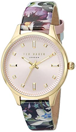 a47ebb4df Ted Baker Women s  ZOE  Quartz Stainless Steel and Leather Dress WatchMulti  Color (Model
