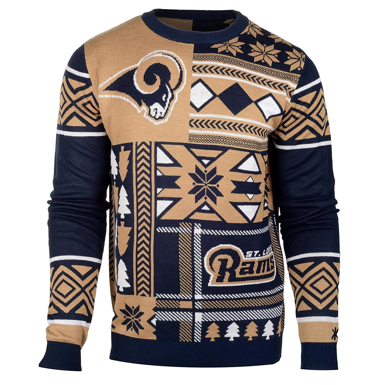 Amazon.com : FOCO NFL Patches Ugly Sweater- Pick Team! : Sports ...
