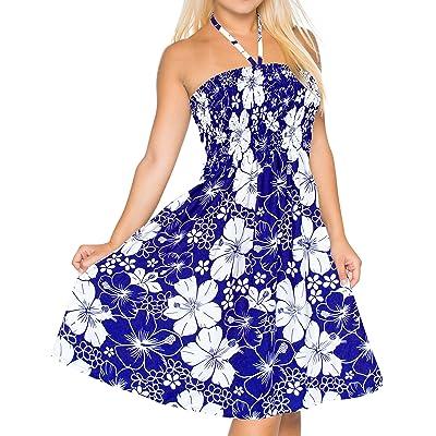 *La Leela* plage HABILLÉES couvrir maillot maxi tube court licou maillot de bain bleu