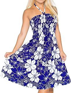 e9586bc3bb Short Tube Dress Swimsuit Swimwear Cover up Beach wear Halter Neck Maxi  Sundress