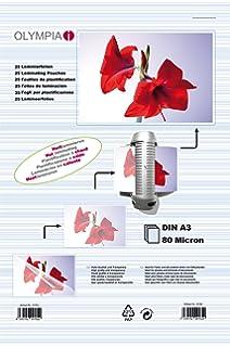 Olympia 9175 Fundas para Plastificar, DIN A3 125 micrón, 50 ...