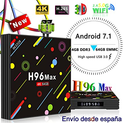 TV Box,Linstar 4GB RAM 64GB ROM HD 4K H96 MAX Android 7.1 Smart TV