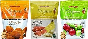 Grandma Lucy's Oven Baked Dog Treat Variety Pack: 1-Pumpkin, 1-Banana and Sweet Potato, 1-Apple