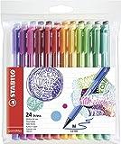 STABILO pointMax - Pochette de 24 stylos-feutres pointe moyenne en nylon - Coloris assortis