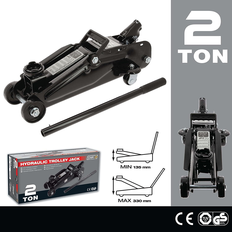 Sumex 2 TON 2202007 - Gato hidráulico de 2 toneladas con ruedas: Amazon.es: Coche y moto