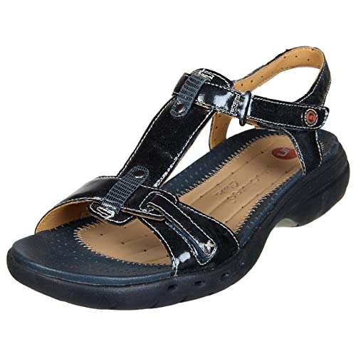 92b67178010 Image Unavailable. Image not available for. Colour  Clarks Womens Navy Blue  Sandals