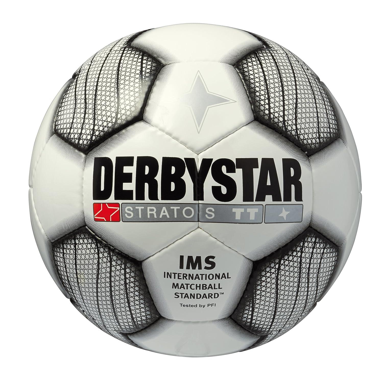 Derbystar Stratos TT - Balón de fútbol Blanco Negro Talla:3 ...