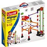 Quercetti Migoga Marble Run with Elevator - 150 Piece Building Set with Spirals, Funnel and Hand Crank for Ages 5 and Up (Made in Italy)