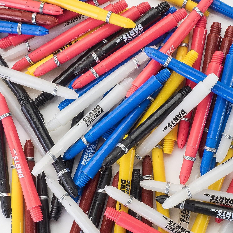 PerfectDarts DEFLECTAGRIP - Lote de cañas de dardos (30 unidades, diferentes tamaños y colores)