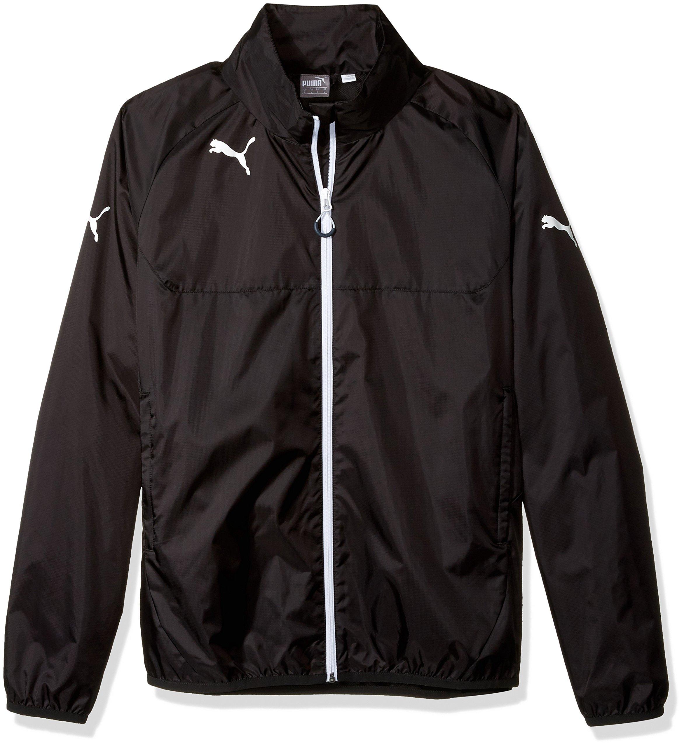 PUMA Men's Rain Jacket, Small, Black-White