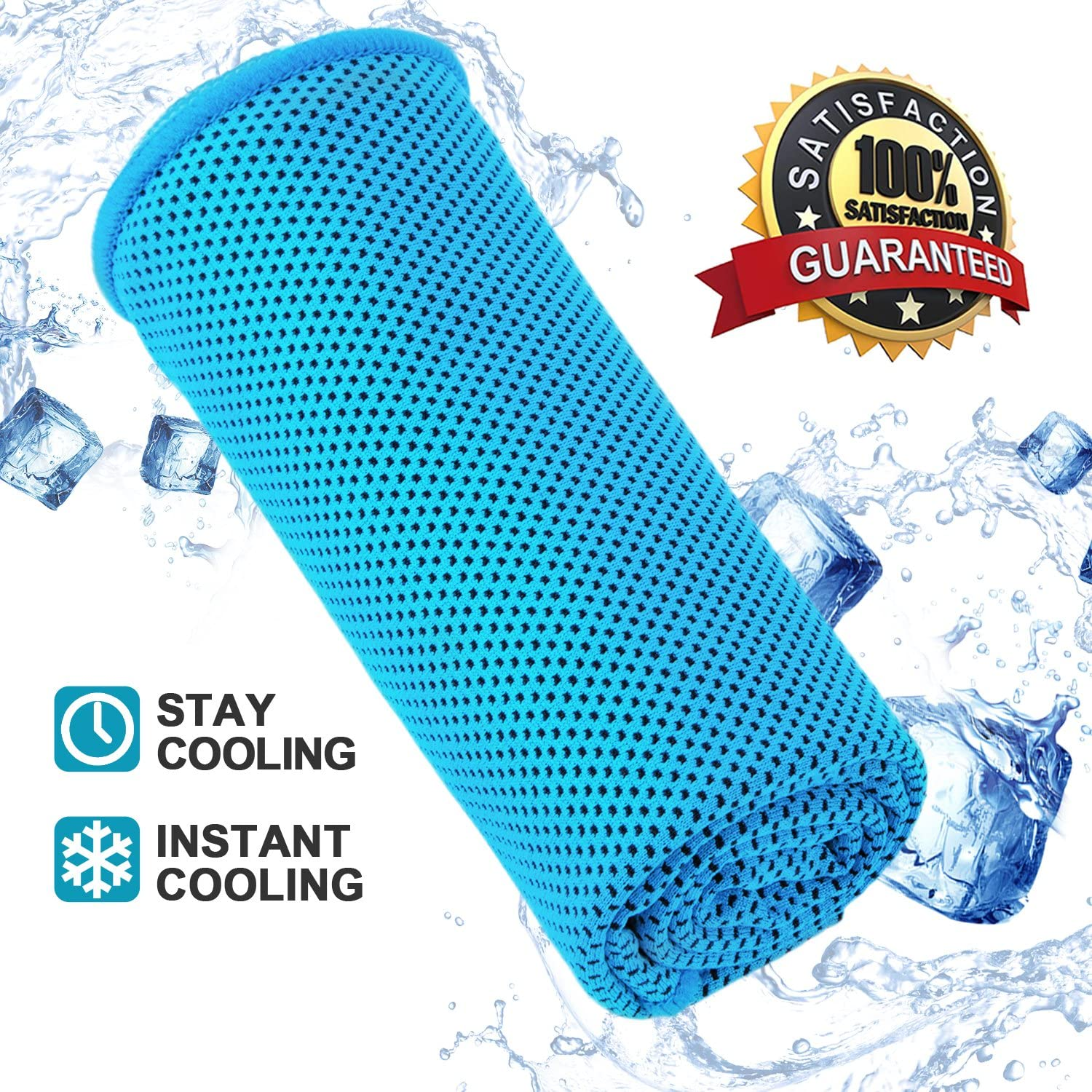 Cooling Towel Stay Cool Yoga Towel Microfiber Towel Lightweight Gym Towels for Camping Hiking Golf Travel Workout Sports Fitness Fast Quick Dry Towel
