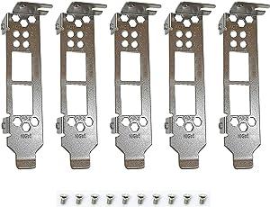 BestParts 5pcs New Generic Low Profile Brackets for HP NC523SFP 593717-B21 593742-001 593715-001 Qlogic QLE8242-CU QLE8242 QLE3242 QLE8262 Dell C852G with Screws