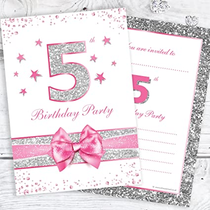 Fifth Birthday Party Invitations
