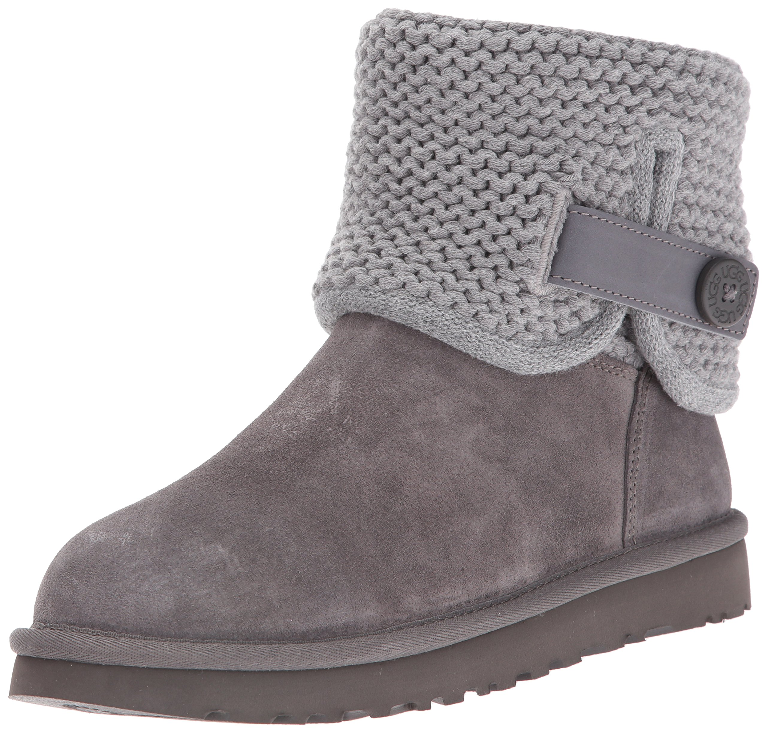UGG Women's Shaina Slip On Slipper, Grey, 9 M US
