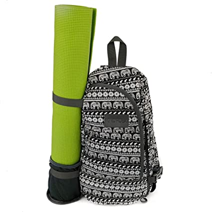 Esterilla de yoga mochila Crossbody Estilo Patterned Canvas ...
