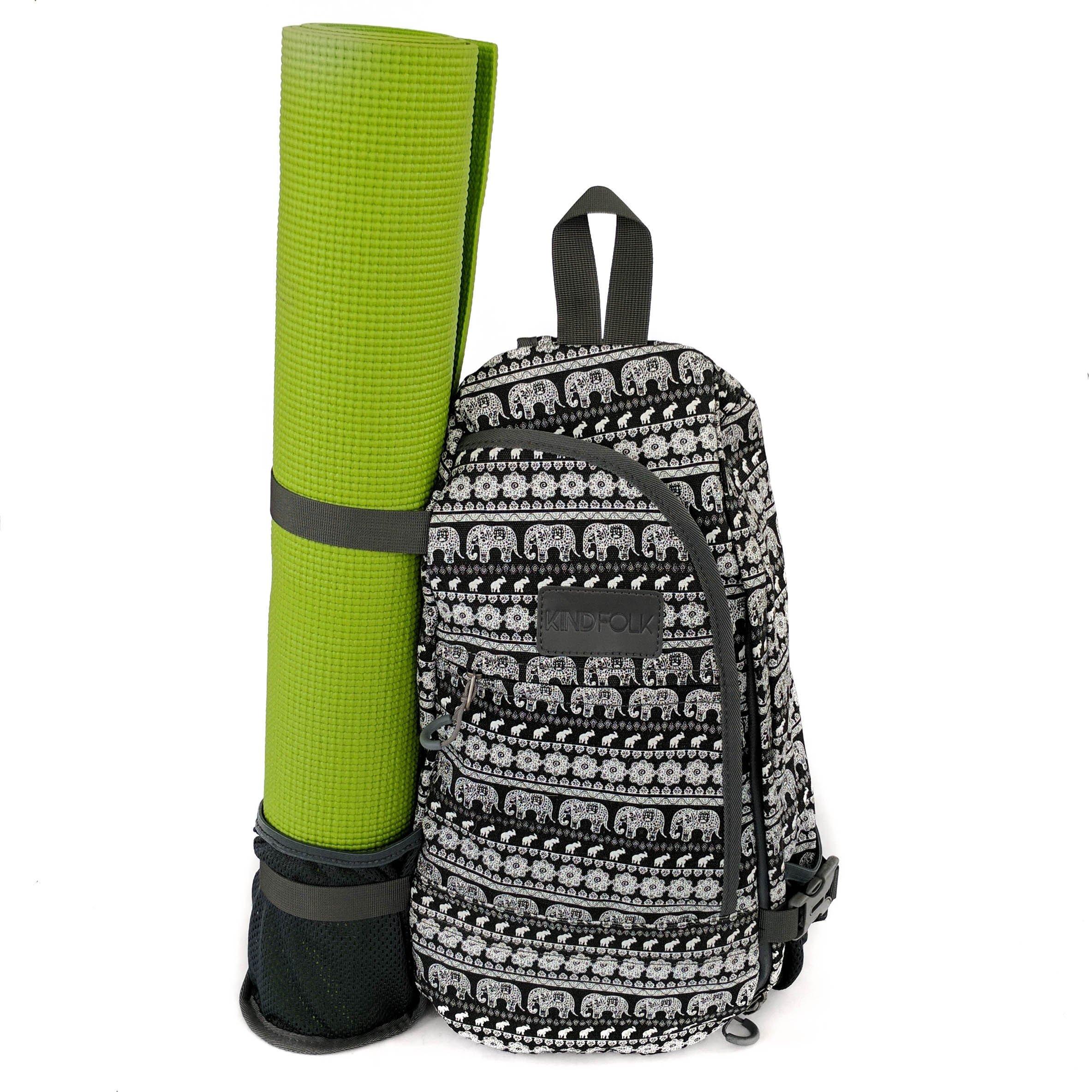 Kindfolk Yoga Mat Backpack Crossbody Style One Strap (Parade)