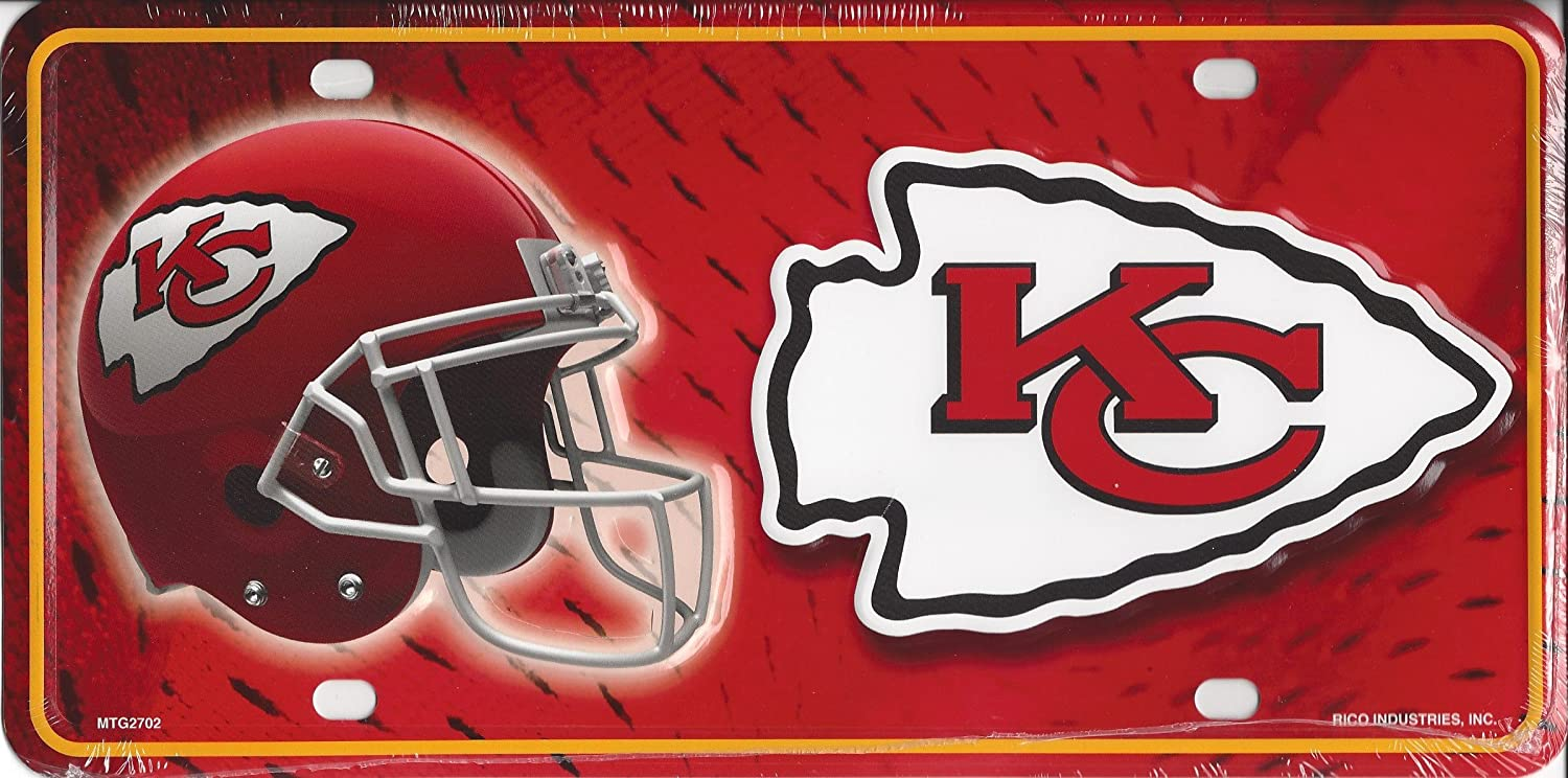 Kansas City Chiefs NFL Embossed Aluminum Automotive Novelty License Plate Tag Sign