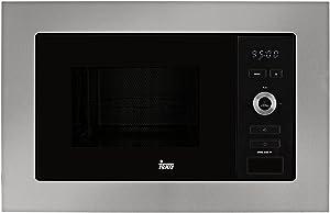 Teka | Microondas Integración + Grill | Modelo MWE 225 FI | Capacidad 20 L | 5 Niveles de potencia | 800 W | Acero Inoxidable Cristal Gris y Negro