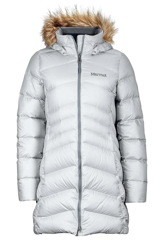 Glacier Grey Marmot Montreal Women's KneeLength Down Puffer Coat