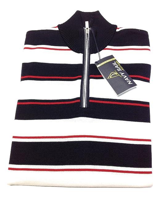 outlet 7f5ee fe238 Navigare Maglione cotone mezza zip (M): Amazon.it: Abbigliamento