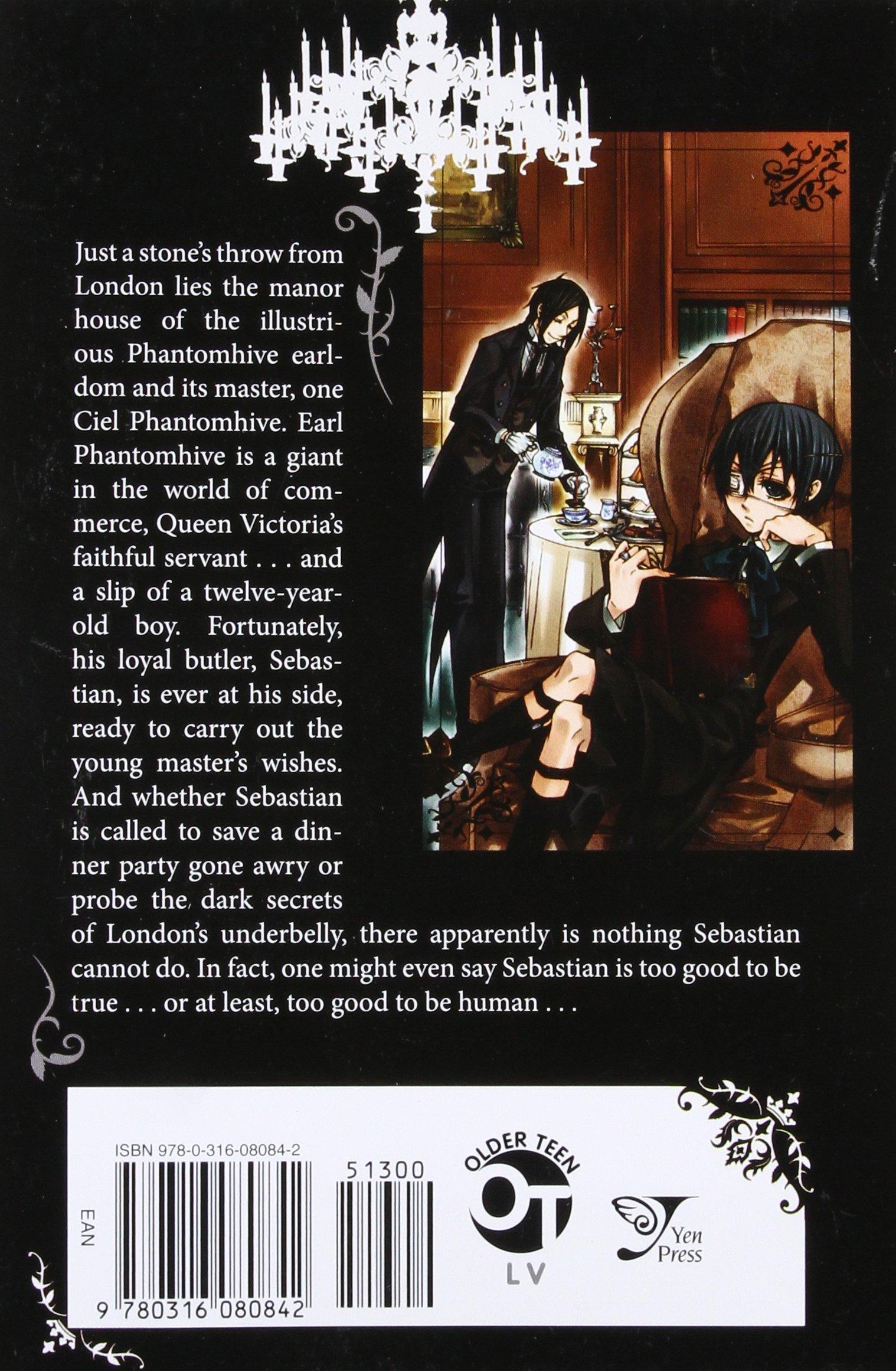 Amazon com: Black Butler, Vol  1 (9780316080842): Yana