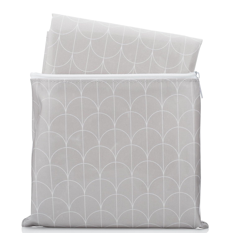 amazon com splat mat by honeyed scallop grey and white modern