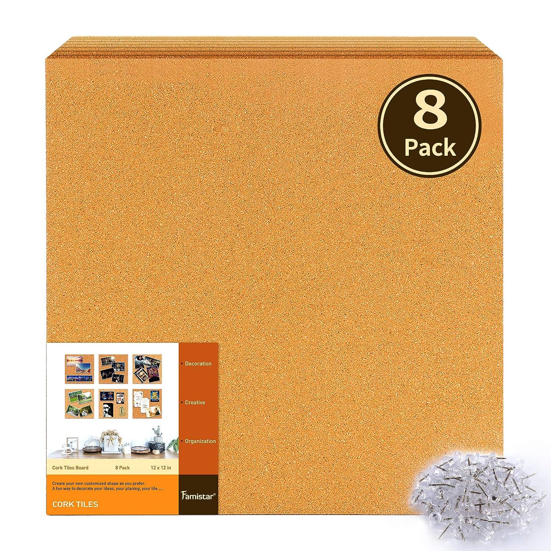 Cork board tiles White Famistar 12 Amazoncom Amazoncom Famistar 12