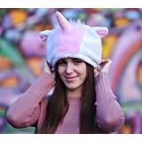 Fun & Soft Unisex Unicorn Hat for Adult Teenager – Rainbow Unicorn Fluffy & Comfy Hat for Men and Women – Pink or Blue Unicorn Horn Hat - Lovely Birthday or Christmas Gift