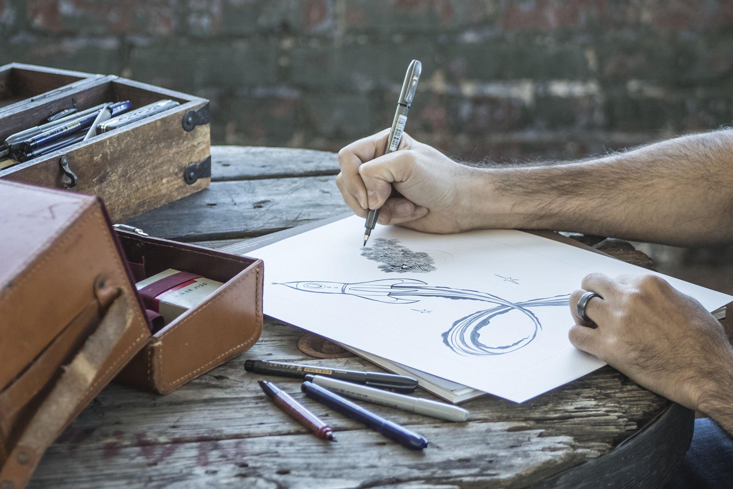 Zebra Zensations Brush Pen, Brush Tip, Black, Water-Resistant Ink, 1-Count by Zebra Pen (Image #4)
