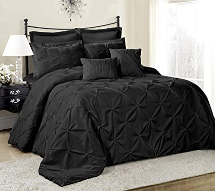 Amazon Com 8 Piece Lucilla Bed In A Bag Comforter Sets Queen King