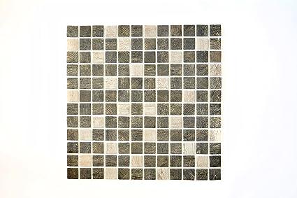 Piastrelle mosaico tessere di mosaico in vetro legno struttura