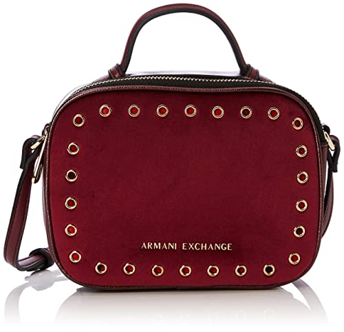 Armani Exchange - Small Cross Body Bag, Carteras de mano Mujer, Morado (Wine