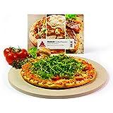 Cordierit Pizzastein rund 32cm Keramik zertifiziert lebensmittelecht