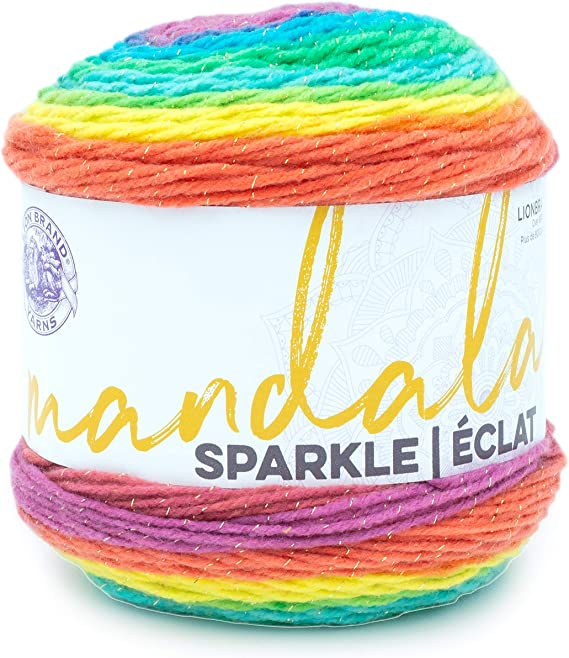 Lion Brand Yarn Mandala Sparkle yarn, Lyra
