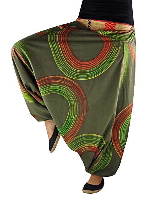 17 opinioni per virblatt UNISEX pantaloni alla turca in stile harem con motivi dipinti a mano