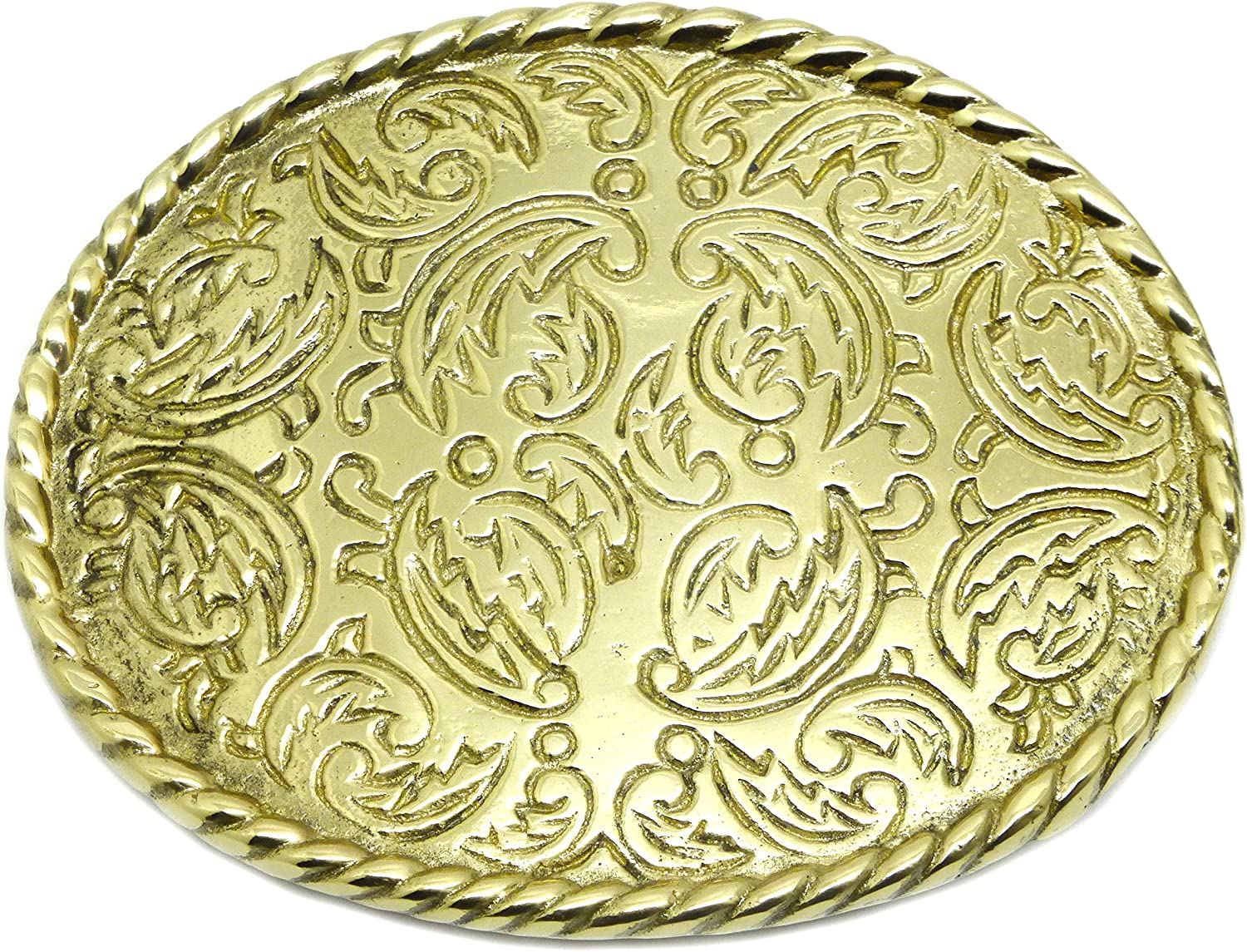 Rodeo Oval Belt Buckle American Western Style Solid Brass Authentic Baron Buckles