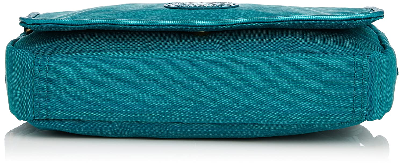Kipling Women's Delphin N Shoulder Bag Dazz Emerald