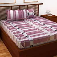 Story at Home Queen Double Bedsheet, Magenta, 225cm X 235cm, Ps1418