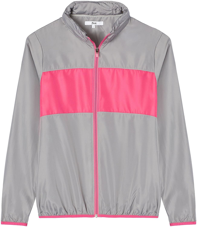 FIND Sportjacke Damen versteckbare Kapuze Colour Blocking: Amazon.de:  Bekleidung