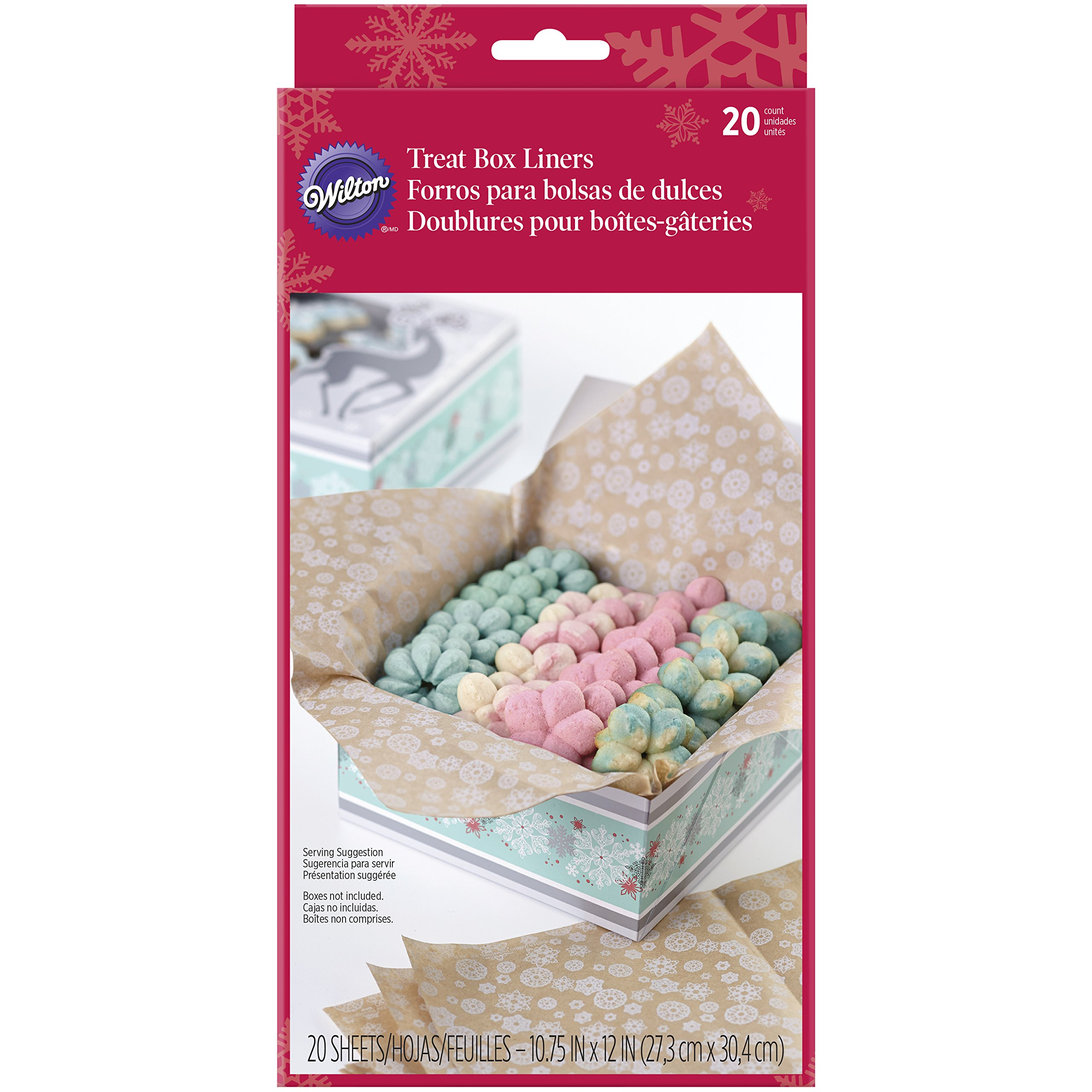Wilton Christmas Treat Box Liners, 20-Count