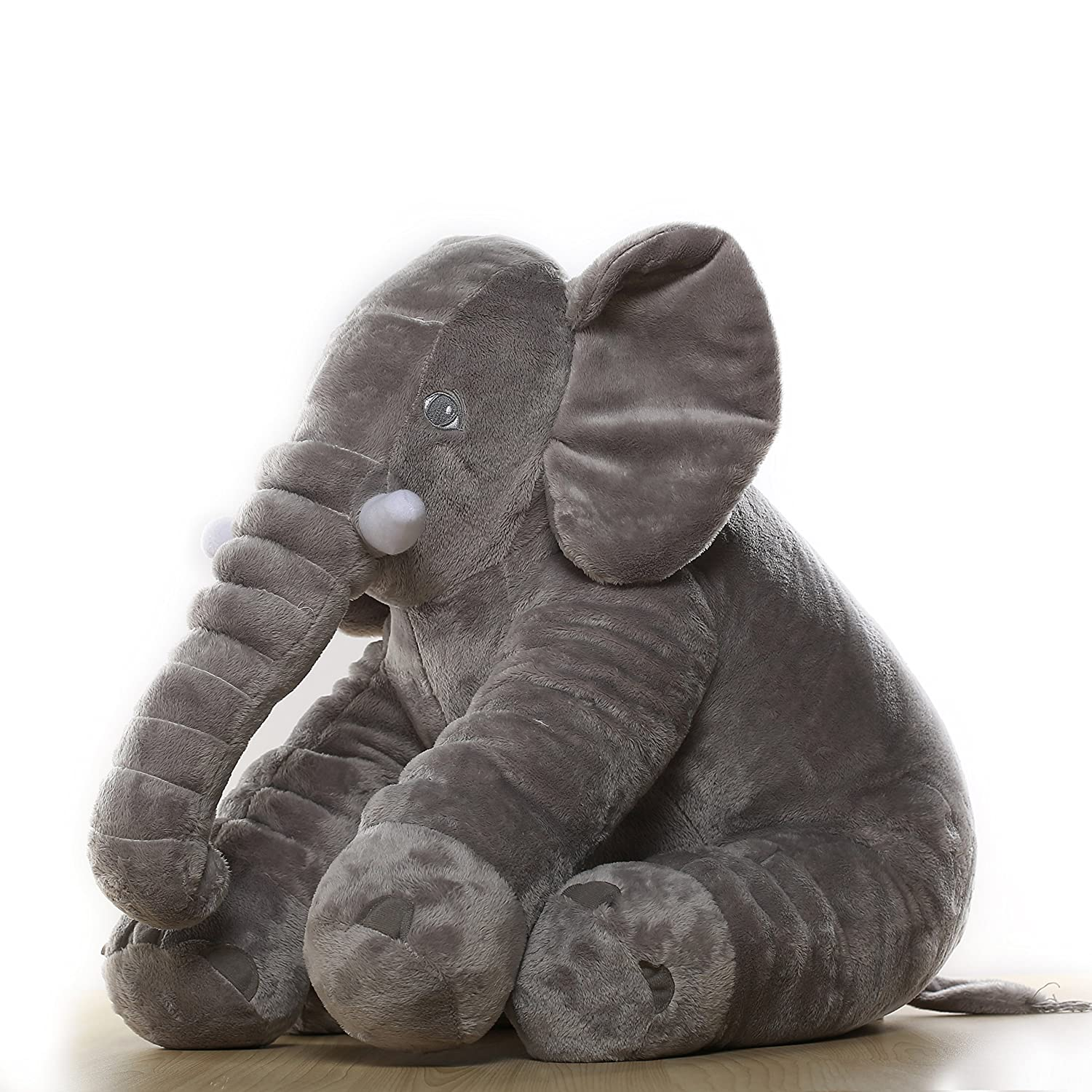MorisMos Stuffed Elephant Toy Pillow Grey 60cm
