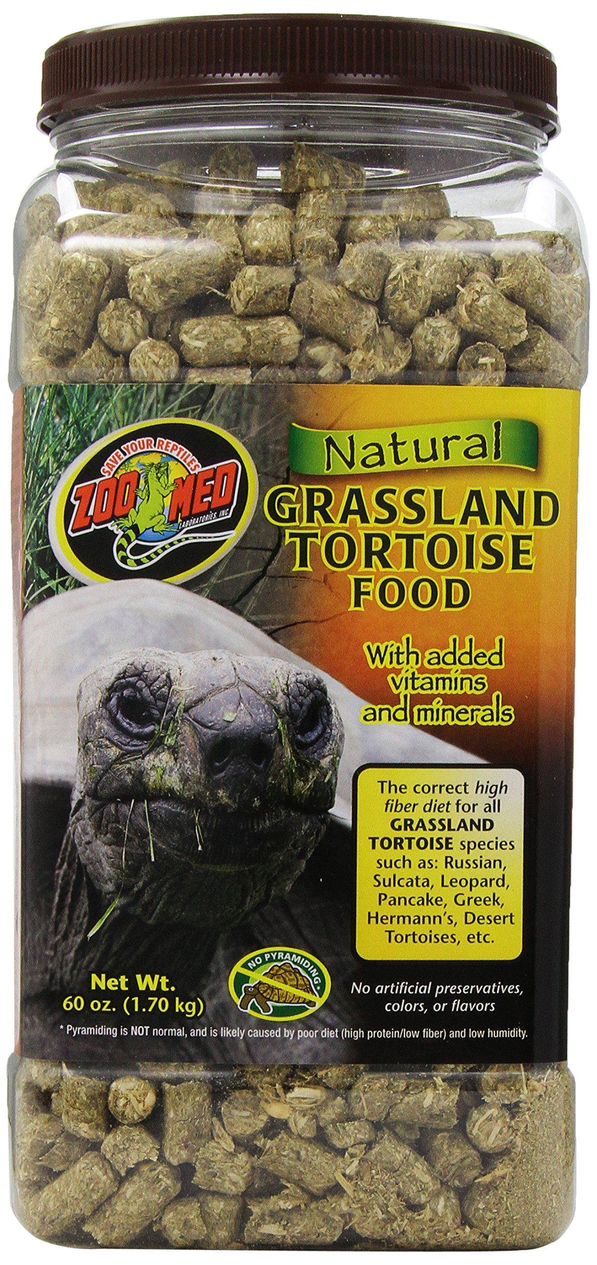 Zoo Med Natural Tortoise Food, 60-Ounce, Grassland by Zoo Med (Image #1)