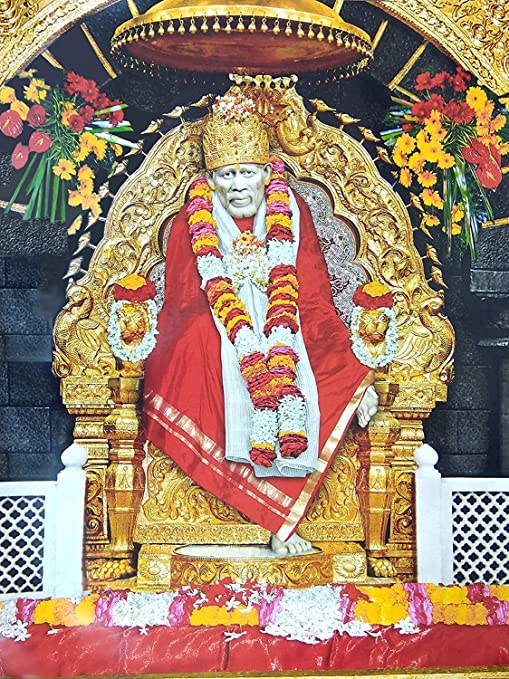 Sai Amrut Shirdi Sai Baba Wall Poster/Wall Paper/Wall Sticker Without Frame  for Home Decor & Other Purposes (Multi Colour & Sizes Available) (30x40