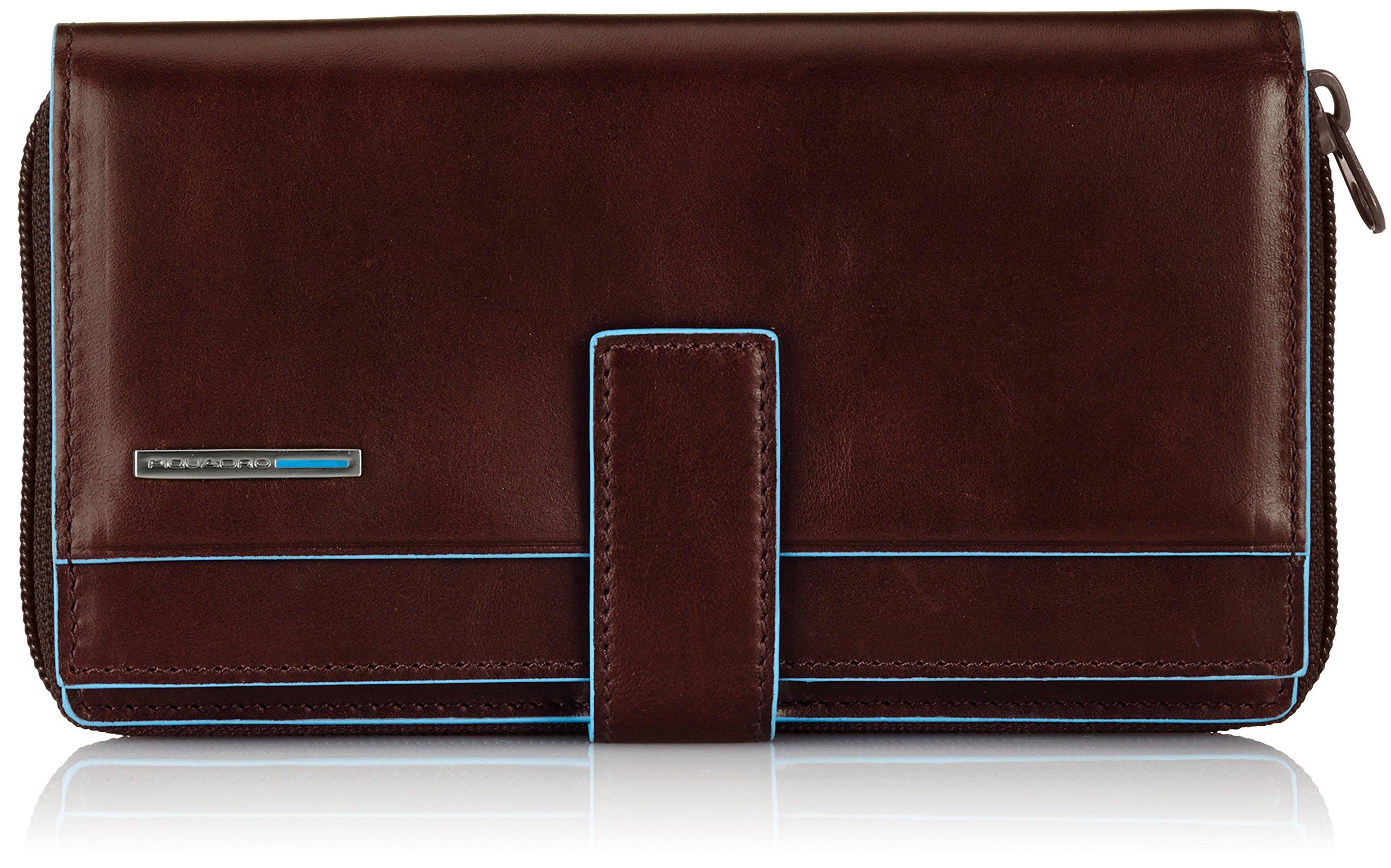Piquadro Lady's Wallet In Leather, Mahogany/Mahogany, One Size
