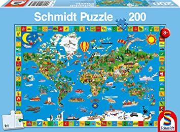 Schmidt jigsaws your amazing world 200 pieces amazon toys schmidt jigsaws your amazing world 200 pieces gumiabroncs Image collections