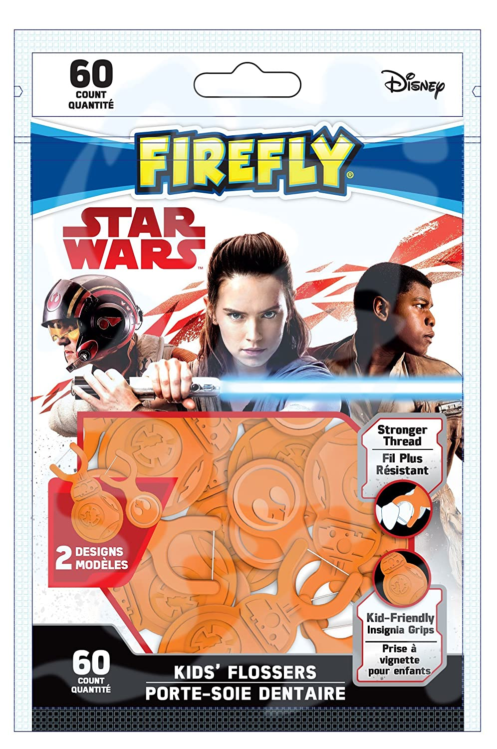 Firefly Star Wars Flossers 60 Count